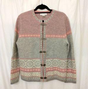 Susan Bristol 100% Wool Cardigan Sweater